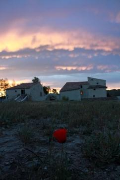 Sonnenaufgang am Ferienhaus in Céreste