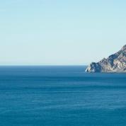 Blick auf Felsen von Corniglia aus