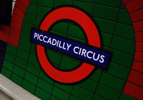 At the underground station - Piccadilly Circus