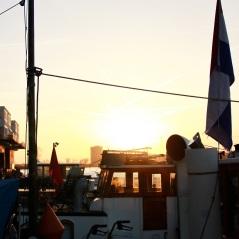 Morgenstimmung auf unserem Hausboot